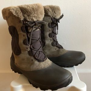 Columbia waterproof insulated leather winter boots